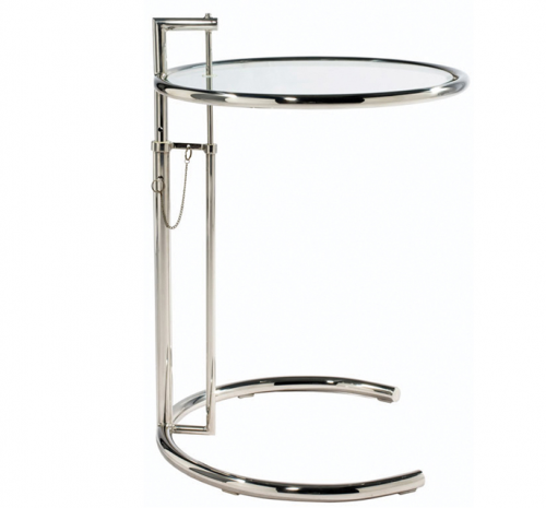 Eileen Gray Inspired Adjustable Side Table E1027